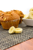 Banana nut muffins Stock Photos