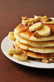 Banana nut pancakes Royalty Free Stock Photography