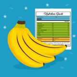 Banana with nutrition facts. Vector illustration design Stock Photography