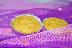 Banana oatmeal cupcakes Stock Photography