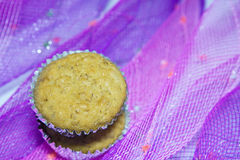 Banana oatmeal cupcakes Stock Photo