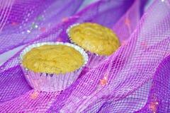 Banana oatmeal cupcakes Royalty Free Stock Photos