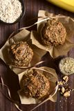 Banana Oatmeal Walnut Muffins Stock Photography