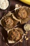 Banana Oatmeal Walnut Muffins Stock Photography
