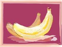 Banana. Oil painting banana vector artwork Royalty Free Stock Photo