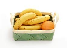 Banana and orange Stock Photography