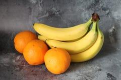 Banana and orange Royalty Free Stock Photography
