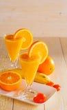 Banana and orange smoothie Stock Image
