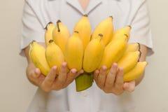 Banana organica fresca per sano Fotografia Stock
