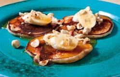 Banana pancake dessert Stock Photo