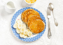 Banana pancake. Healthy and delicious breakfast. Royalty Free Stock Photography