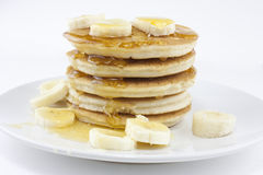Banana pancakes or crepes Stock Image
