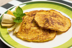 Banana pancakes Stock Photos