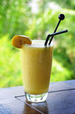Banana paradise. The mixed of fruit smoothie mocktail named banana paradise Royalty Free Stock Photography