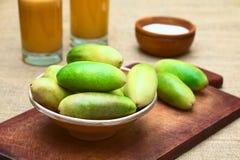 Banana Passionfruit (lat. Passiflora tripartita) Royalty Free Stock Photography