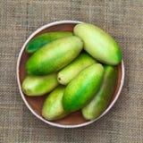 Banana Passionfruit (lat. Passiflora tripartita) Stock Photo