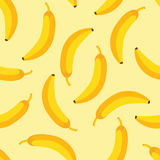 Banana pattern. Geometric banana fruits seamless pattern illustration Royalty Free Stock Images