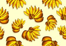 Banana pattern seamless background stock illustration