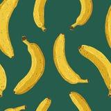 Banana pattern. Seamless hand drawn banana pattern Royalty Free Stock Photo