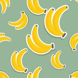 Banana pattern. Seamless texture with ripe bananas Royalty Free Stock Photo
