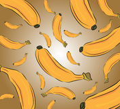 Banana pattern Stock Photography