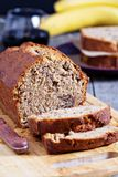 Banana Pecan loaf cake Royalty Free Stock Image