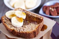 Banana Pecan loaf cake Stock Photos