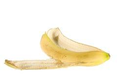 Banana peel. A isolated banana peel on white Royalty Free Stock Photo