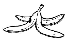 Banana peel. Illustration of a banana peel stock illustration
