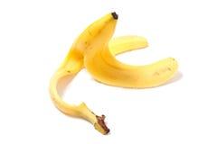Banana peel. A banana peel on the ground Stock Image