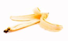 Banana peel. Separated on white Royalty Free Stock Photo