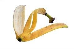 Banana peel. Isolated on white background Stock Photos