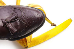 Banana peel Stock Photos