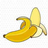 Banana peel cartoon Stock Photography