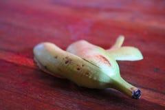 Banana peel. Fruit on the table Stock Image