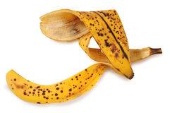 Banana peel. Isolated Royalty Free Stock Photography