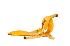 Banana peel isolated Royalty Free Stock Photo