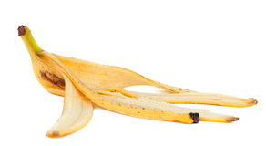 Banana peel isolated Royalty Free Stock Image