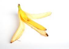 Banana peel isolated on white Stock Images