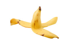 Banana peel isolated on white background Royalty Free Stock Images