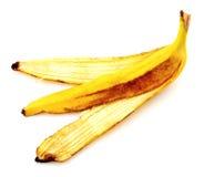 Banana peel isolated on white Royalty Free Stock Photography
