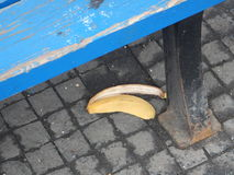 Banana peel rubish on a street Stock Photography