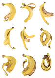 Banana peel set Stock Photo