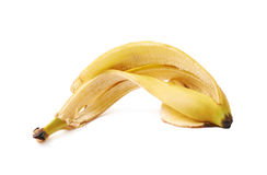 Banana peel skin isolated Stock Photo