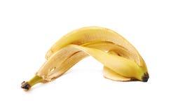 Banana peel skin isolated Stock Photo