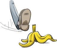 Banana Peel Step Royalty Free Stock Photo
