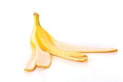 Banana peel on white Stock Images