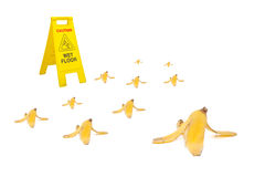 Banana peel Royalty Free Stock Photography