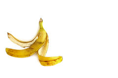 Banana peel on white background Royalty Free Stock Photo