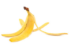 Banana peel on a white background. Stock Images